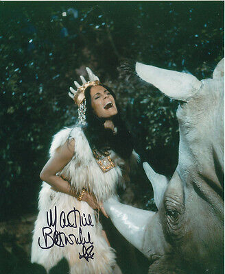 Martine Beswick In Person Signed Photo - Slave Girls - AG452