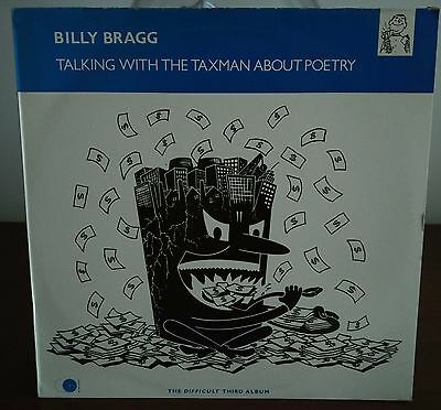 Billy Bragg – Talking With The Taxman About Poetry Lp Italian Issue 1986 EX