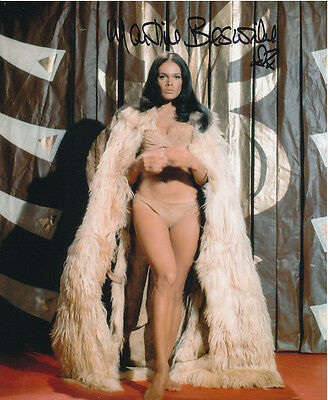Martine Beswick In Person Signed Photo - Slave Girls - AG471