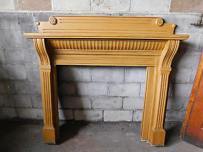 Antique Victorian Style Fireplace Mantel - C. 1885 Oak Architectural Salvage