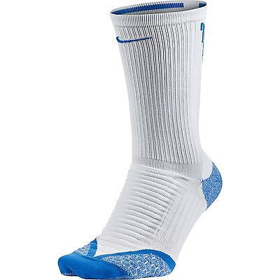 NEW Nike Golf Elite Cushion Crew White/Photo Blue Socks Men's 10