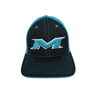 Miken Hat by Pacific 404M BLACK/ELECTRIC BLUE/BLK/WHT/ELEC SM/MD (6 7/8- 7 3/8)