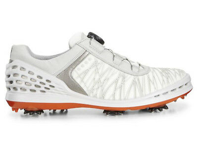 Ecco Cage BOA Golf Shoes - Shadow White/Fire