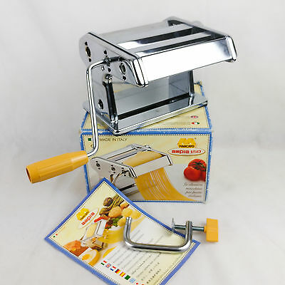Marcato Ampia 150 Chrome Pasta Machine Adjustable Thickness Lasagne Tagliattela