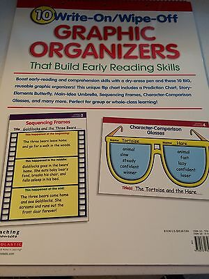 10 Write-On/Wipe-Off Graphic Organizers, Scholastic