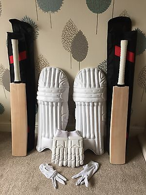 TWO PRO Cricket Bats / Pro Pads & Gloves RRP£850+