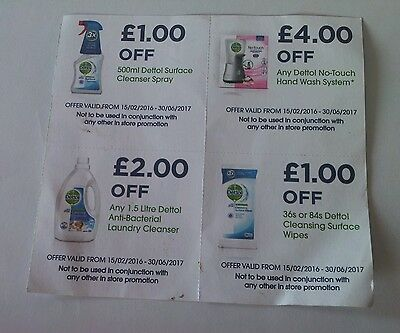 DETTOL Money Off Voucher Coupon No Touch Hand Wash System wipe spray laundry