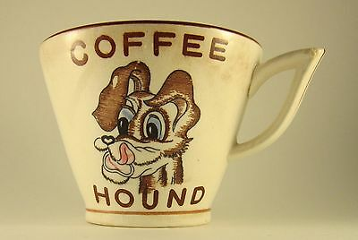 Vintage Japan Napco Coffee Hound Tramp dog Misprint oversize mug 50s