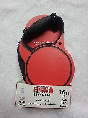 Kong Essential 16 Ft Small  Retractable Tape Leash Dogs Up To 45 Lbs