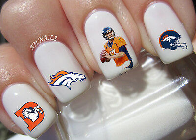 Denver Broncos Nail Art Stickers Transfers Decals Set Of 46