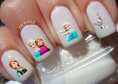 Frozen Nail Art Stickers Transfers Decals Set of 32