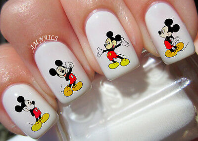 Mickey Mouse Nail Art Stickers Transfers Decals Set of 42