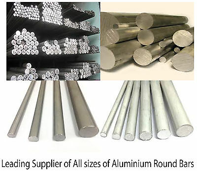 "Aluminium Round Bar Rod 6mm(1/4"") - 44mm(1 3/4"") Dia Various sizes and lengths"