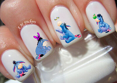 Eeyore Nail Art Stickers Transfers Decals Set of 43