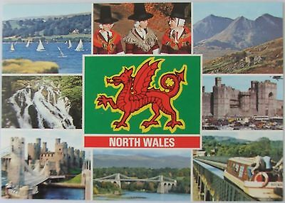 Multi scene postcard from North Wales