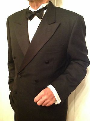 Canali Tuxedo Classic Double Breasted Jacket And Trousers Made In Italy