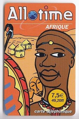 France Telecarte / Phonecard Prepayee .. 7€50 Tele2 Allo Time Afrique Africa +N°