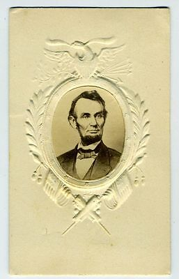 Cdv – Abraham Lincoln – Embossed Patriotic Border