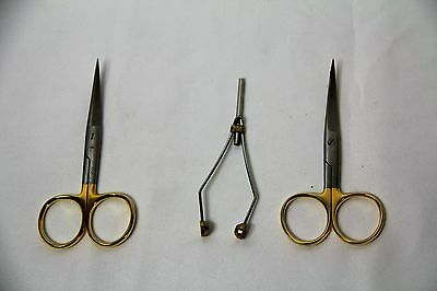Lot Of Fly Tying Tools, DR Slick Scissor's, Bobbins Fly Fishing Gear
