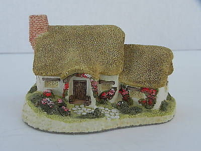 Rose Cottage by David Winter, Vintage 1980 - Hand Made & Painted, Great Britain
