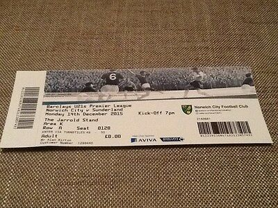 Norwich City v Sunderland U21 Premier League ticket - 14/12/2015 - postponed