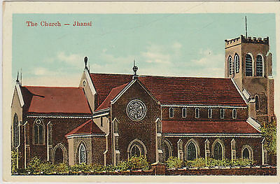 Postcard  of British India - The Church, Jhansi, - unused - (A29) (X)