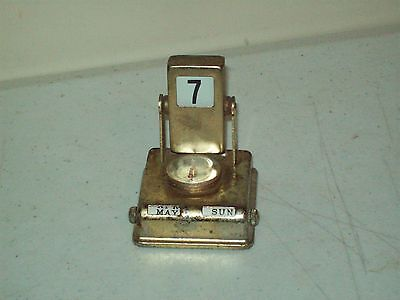 vintage perpetual calendar with thermometer great desk top collectible
