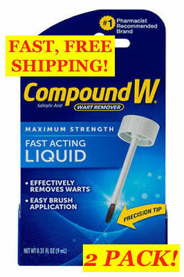 COMPOUND W WART REMOVER Maximum STRENGTH Fast Acting Liquid, FREE shipping