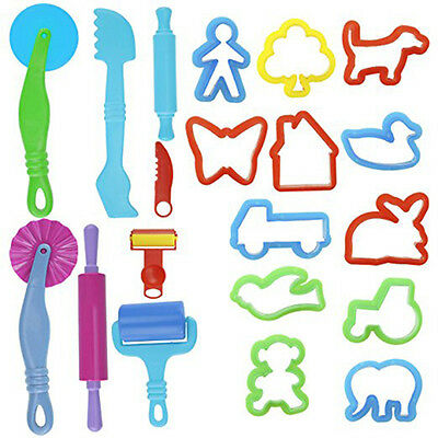 20PCS Kids DIY Modelling Mold Play Dough Tools Set Learning Play Doh Toys Gifts