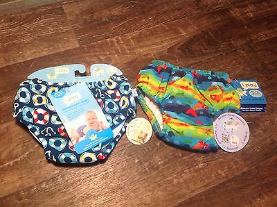 i Play ULTIMATE SWIM DIAPER  Re-usable Absorbent Swimsuit 2pc SET Size XL 18-24M