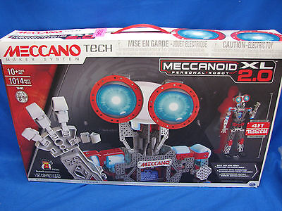 MECCANO Tech Meccanoid XL 2.0 Personal ROBOT, 4 ft Tall Programmable ROBOTIC TOY