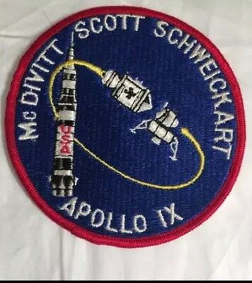 Apollo IX Mission Patch McDevitt Scott Schweickart Texas Art Embroidery NO red D