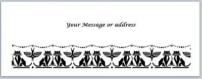 30 Personalized Return Address Labels Cats Buy 3 get 1 free (ct225)
