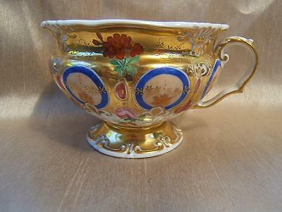 ANTIQUE Continental Porcelain TEA CUP Konigszelt Germany? Moscow Russia? GILDED