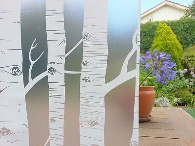 90 CM x 1 M - Tree Removable Frosted Window Glass Film for privacy