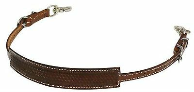 Showman MEDIUM OIL Western Horse Basket Weave Tooled Wither Strap! HORSE TACK!
