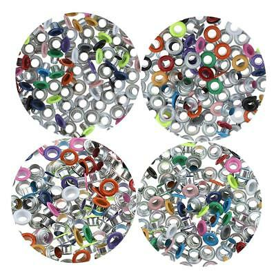 100x Assorted Color Eyelets Buckle Rivet for Leathercraft Scrapbooking DIY Craft