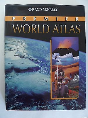 Rand McNally Premier World Atlas Large Hardcover Book 1998
