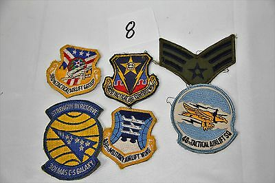 Lot Of Vintage Airforce, Military, Army Patches Collectible, Metals, Pins Lot 8
