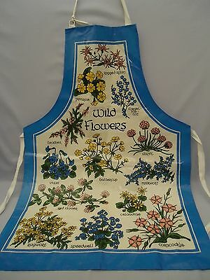 SHERRIFF PVC Coated Cotton Cloth Apron Made in Britain WILDFLOWERS Design