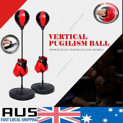 Standing Punching Bag Boxing Speed Ball Training Kick Fitness Exercise Kids Boys