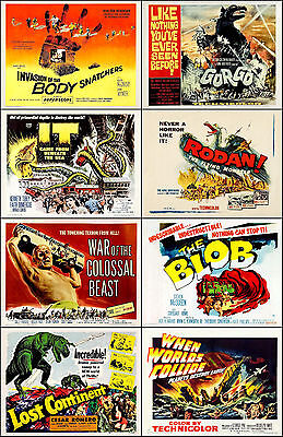 SPECIAL LOT Of 8 Individual SCI-FI 11x14 TITLE CARD And Half Sheet Prints Lot J