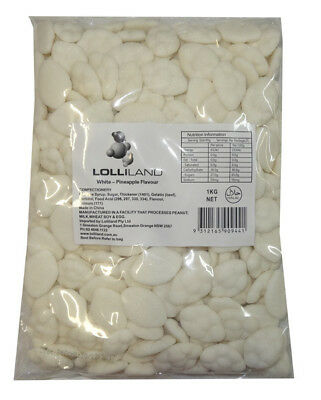 Lolliland Clouds - White - Pineapple Flavour (1kg bag)