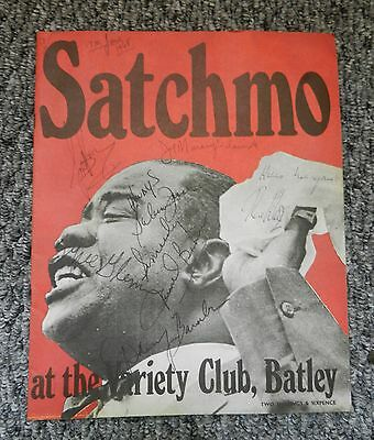 Louis Armstrong - Satchmo Signed Program - Batley 1968 - Good Condition