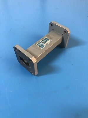 """Waveline 7541 (WR-75) 10 to 15 GHz, 3"""" L, 1.08 VSWR, Waveguide Straight Section"""