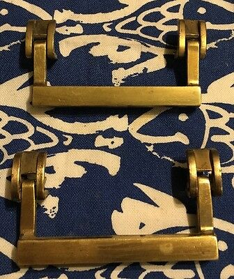 Set 2 Vintage Keeler Brass Drawer Handles KBC