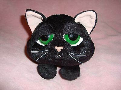 "Russ Peepers Black Cat SHADOW Plush 8"" long x 4"" tall"