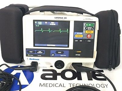 "Physio-Control Lifepak 20 Biphasic 3 Lead ECG Analyze - ""Excellent Condition"""