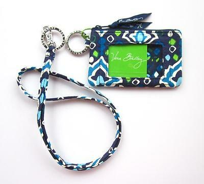 *New with tags*Vera Bradley Zip ID Case and Lanyard in Ink Blue