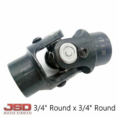 Black New Universal 3/4 Round X 3/4 Round Steering U Joint Weld On Racing